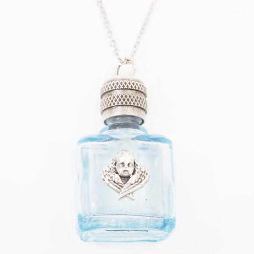 フランス製 ガラス 香水 フレグランスボトル エンジェル・ブルー ペンダント 0369-PS08