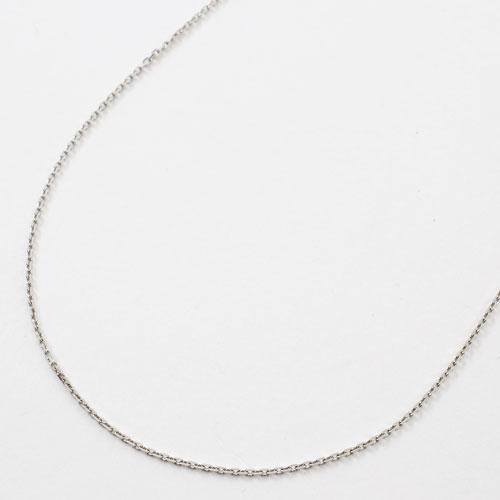 プラチナ850 ネックレス アズキ チェーン 45cm フリーサイズ 4面カット 小豆 0387-NP08