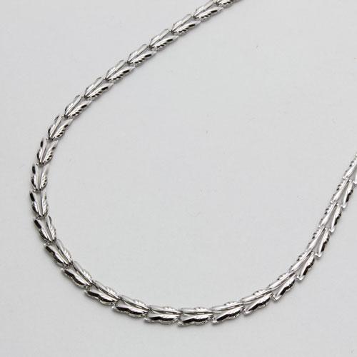 純プラチナ ネックレス リバーシブル リーフ 42cm 6.8g 0454-NP08