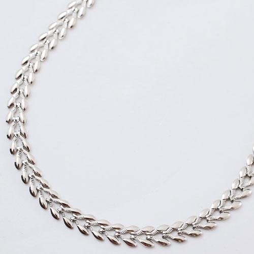 純プラチナ ネックレス しなやかハート 45cm 11.2g 0458-NP08