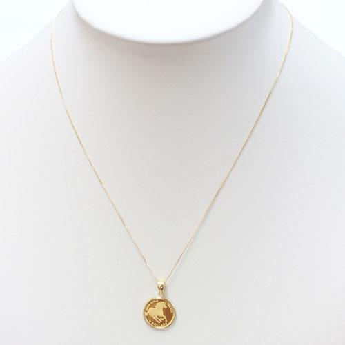 純金 コイン ペンダント ホース 金貨 1/25オンス ツバル製 0473-PG08