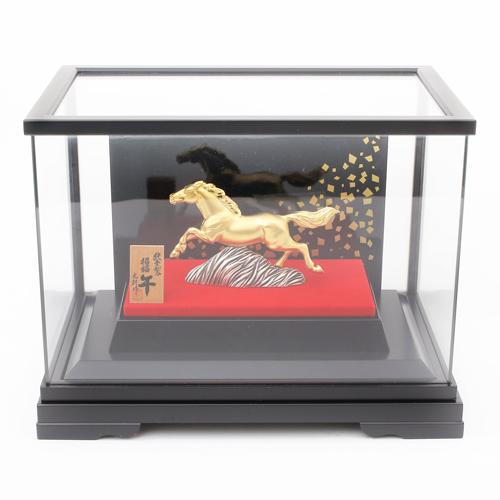 純金 K24 置物  福馬 開運 干支 ガラスケース付き 0488-OG14