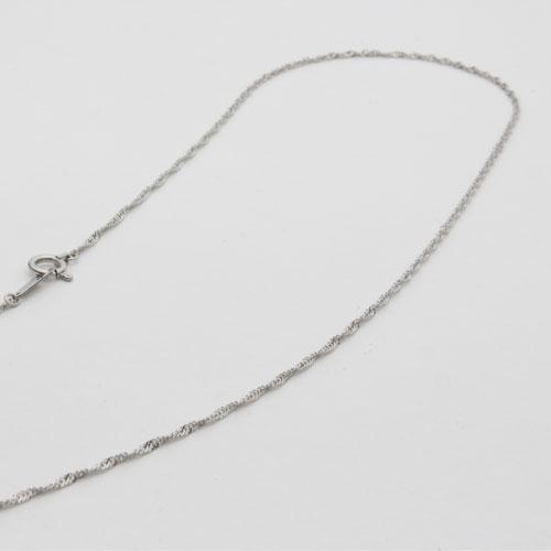 プラチナ ネックレス スクリュー チェーン 42cm 1.7g 0505-NP08
