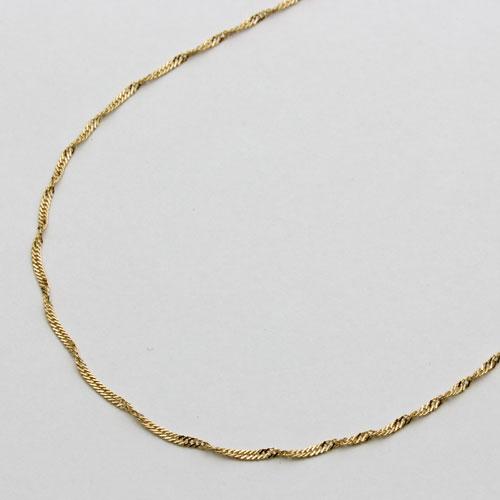 18金 ネックレス スクリュー チェーン 42cm 0.8g 0520-NG08