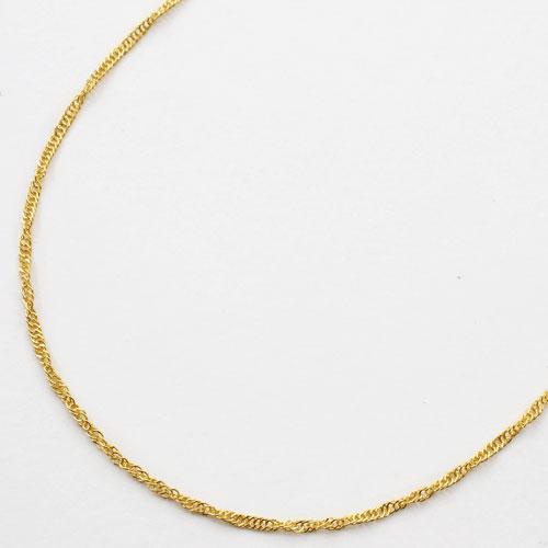 純金 ネックレス スクリュー チェーン 45cm 2g 造幣局検定刻印入り  0533-NG08