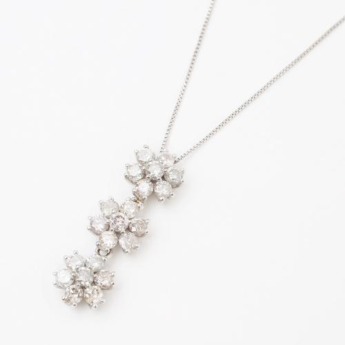 プラチナ900 ダイヤモンド 1ct ペンダント ネックレス 0544-PP08
