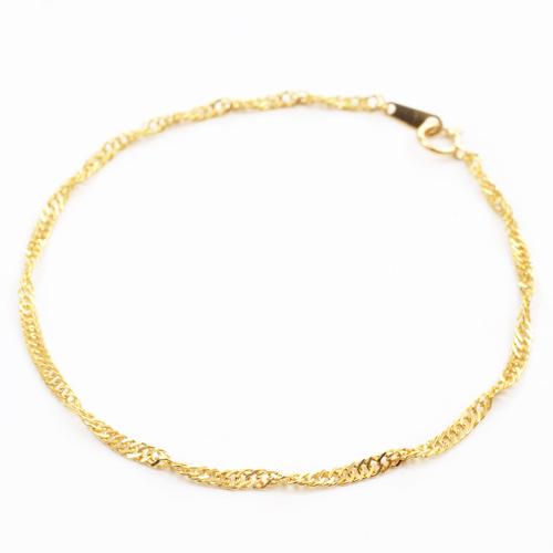純金 18.5cm 2.3g ブレスレット K24 スクリューチェーン 0546-NG08