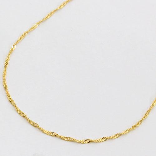 18金 ネックレス スクリュー チェーン 45cm 2g K18 刻印 0581-NG08