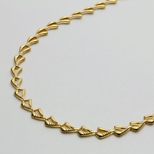 純金 ネックレス ウェーブ デザイン 42cm 7.2g ゴールド   0622-NG08