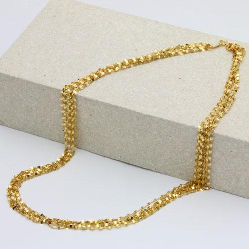 純金 ネックレス ペダル チェーン 10連 ネックレス K24 0656-NG13