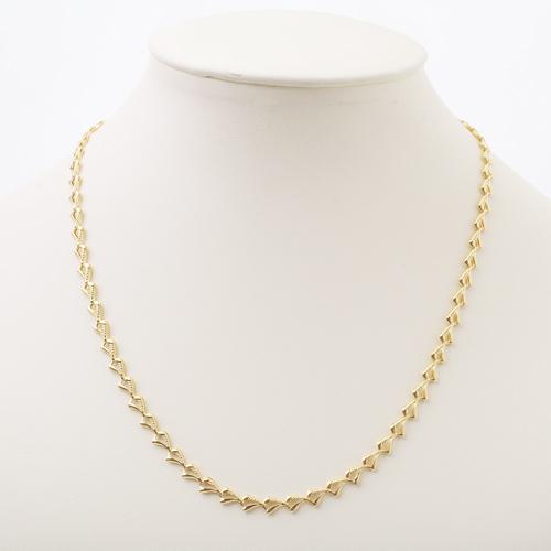 純金 K24 デザイン ネックレス ウェーブ 7g 45cm 0907-NG09