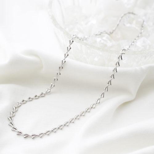 純プラチナ ネックレス Pt999 ゆったりウェービー 45cm 8.0g 0917-NP09