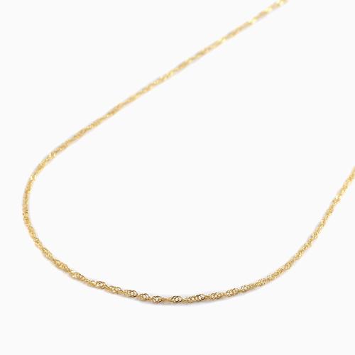 【本店限定価格!!】純金 K24 ネックレス スクリュー 42cm  1.3g 造幣局刻印入 1055-NG09