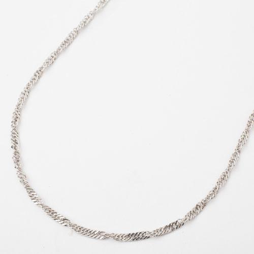 純プラチナ 42cm 5.1g ネックレス 純Pt スクリューチェーン 1065-NP09