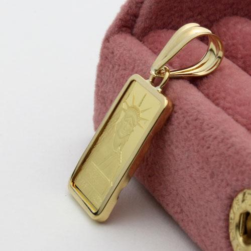 純金 インゴット ペンダント 2g リバティ スイス製 金貨 1105-PG09