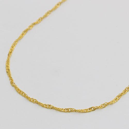 純金 ネックレス スクリュー チェーン 45cm 3.5g K24 刻印 1205-NG09