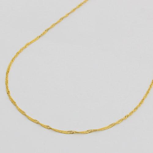 純金 ネックレス  スクリュー チェーン 45cm 1.5g K24 造幣局検定 刻印入り 1210-NG09