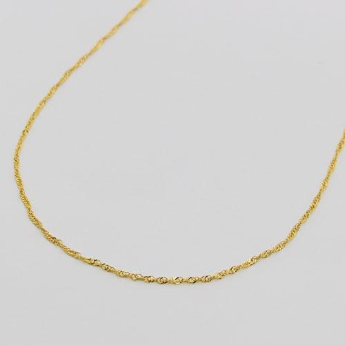 純金 ネックレス  スクリュー チェーン 50cm 1.6g K24 造幣局検定 刻印入り 1211-NG09