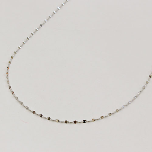 18金 ホワイトゴールド  ネックレス ペダル チェーン 50cm スライド 1213-NG09