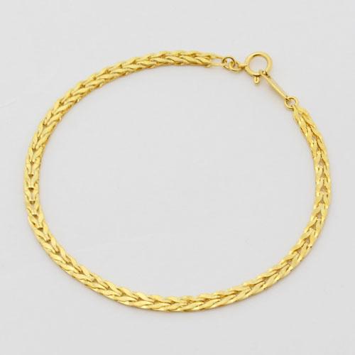 純金 ブレスレット リバーシブル チューリップ K24 18cm 1306-NP10