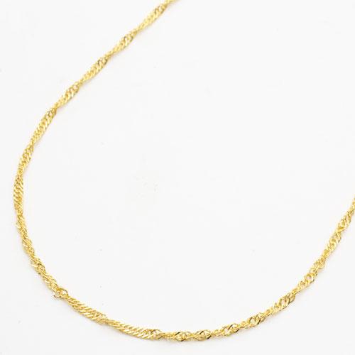 純金 24金 ネックレス セミロング スクリュー 50cm 3.9g 1356-NG10