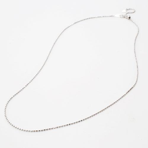 日本製 18金ホワイトゴールド ネックレス フリーサイズ 50cm 3g 1409-NG10