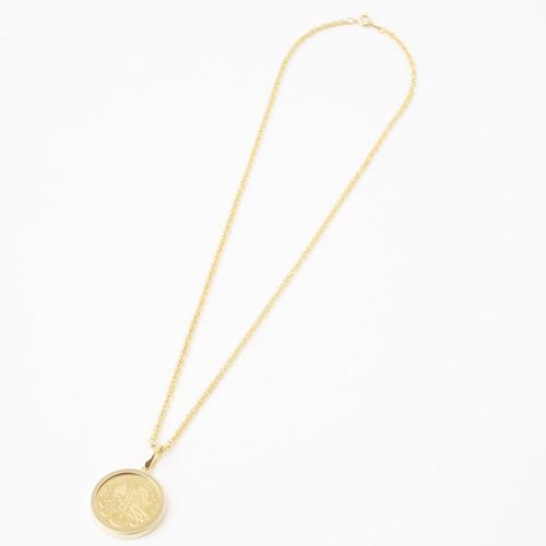 純金 コイン 1/4オンス ウィーンハーモニー・コイン金貨ペンダント 両面ガラス入り K18 デザイン枠 1528-PG10