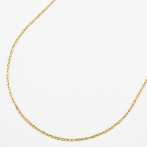 純金 K24 24金 ダブル縄ネックレス シリコンスライド スクリュー 50cm 2.4g 1596-NG14