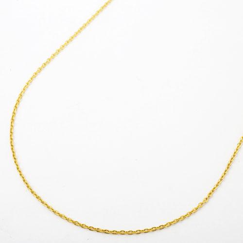 日本製 純金 ネックレス 小豆 チェーン スライドアジャスター K24 刻印 1612-NG14