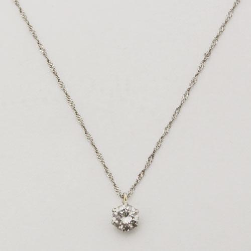 プラチナ ダイヤモンド 0.23ct ペンダント Pt850 チェーン 鑑別書付 1631-PG11