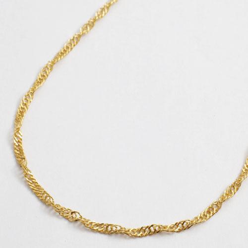 純金 男女兼用 50cm 6.3g ネックレス K24 スクリューチェーン 1646-NG11