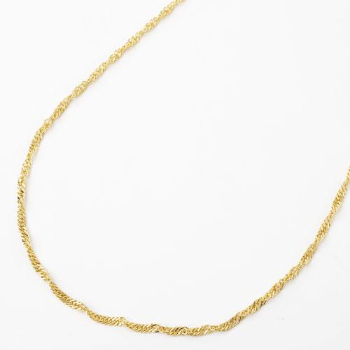 18金 ネックレス 60cm 7g スクリュー チェーン 1658-NG11