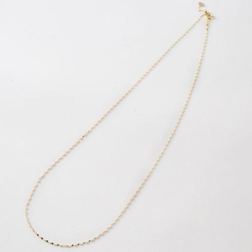 日本製 ネックレス 18金 K18 ペダルチェーン スライド式 1670-NG13