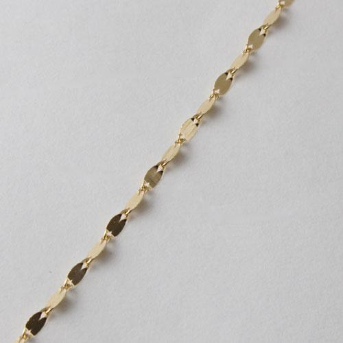18金 ネックレス ペダル チェーン 42cm K18 造幣局検定 刻印 1679-NP11
