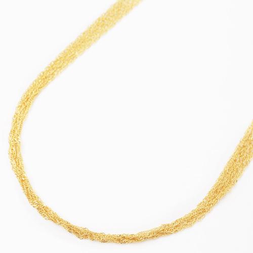 日本製 純金 ネックレス スクリュー チェーン  5連 60cm 8g K24 刻印 1693-NG11