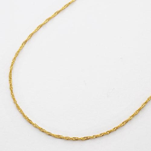 純金 ネックレス スクリュー チェーン 50cm 2.2g K24 刻印 1696-NG11