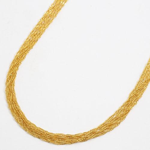 日本製 純金 ネックレス スクリュー チェーン  5連 60cm 11.8g K24 刻印 1700-NG11