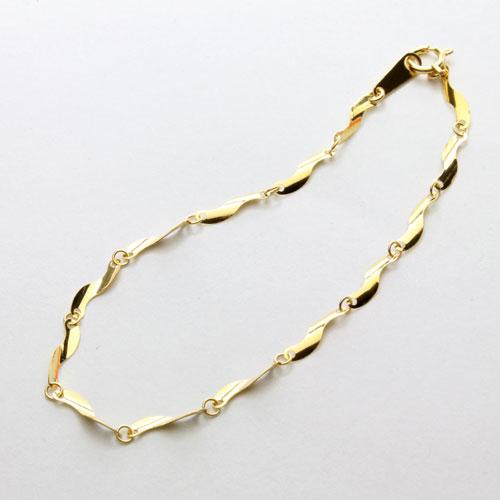純金 ブレスレット 短冊 デザイン 18cm K24 1703-BG11