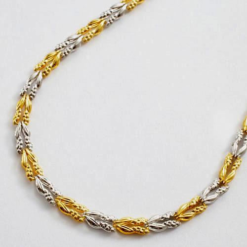 純金 純プラチナ コンビ ブレスレット ラン 1738-BC11