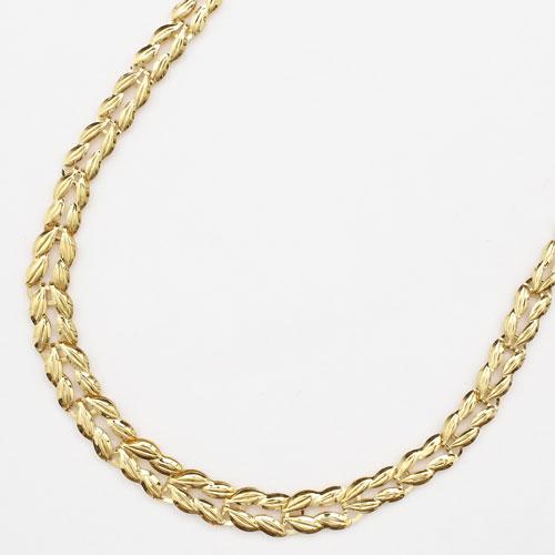純金 24金 リバーシブル グラデーション ネックレス 45cm 6.9g 1771-NG11