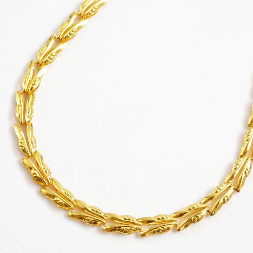 純金 ブレスレット リバーシブル リーフ デザイン 18cm 2.9g 1795-BG12