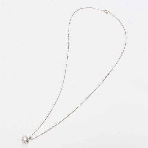 プラチナ ダイヤモンド 0.5ct ペンダント SIクラス/Hカラー Pt900 ベネチアンチェーン 鑑別書付 1800-PG12
