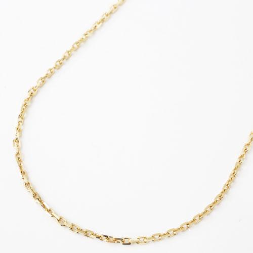 18金 アズキフリーサイズ チェーン4面カット 小豆 50cm 6.7g ネックレス 1804-NG12