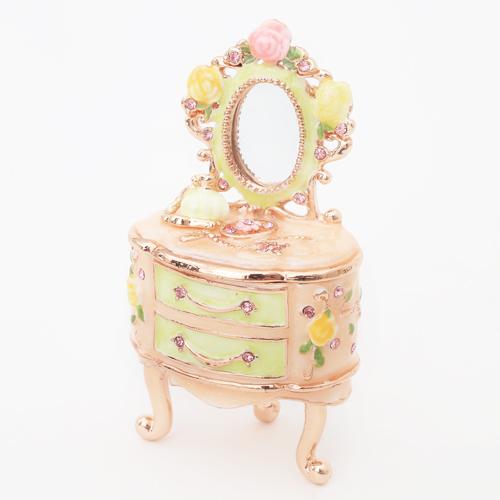 ミニジュエリーケース 宝石箱 ドレッサー ピンク 小物入れ 1870-JC14