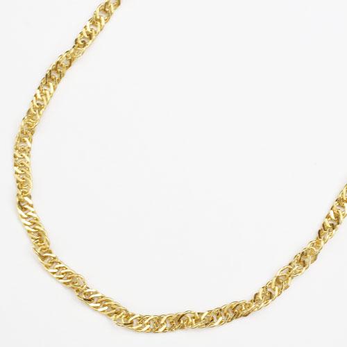 純金 24金 K24 セミロングサイズ・スクリュー ネックレス 50cm 12.3g 1945-NG12