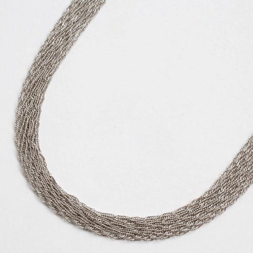 純プラチナ(純Pt/Pt999) ネックレス スクリューチェーン 60cm (10連スクリュー) 1946-NP12