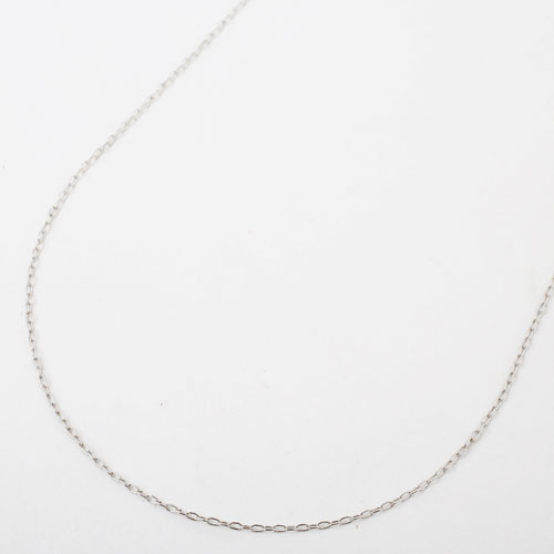 18金 K18WG ホワイトゴールド・フリーサイズ アズキ チェーン 小豆 45cm 0.9g 1972-NG12