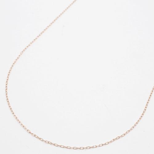18金 ネックレス フリーサイズ 小豆 チェーン ピンクゴールド 45cm 1g 1973-G16
