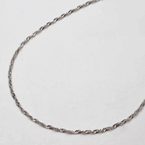 プラチナ ブレスレット Pt850 スクリュー チェーン 18cm 0.5g 1974-BP12