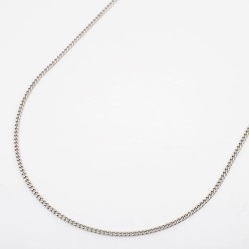 プラチナ850 フリーサイズ チェーン ネックレス 2面カットキヘイ 50cm 3.8g 2027-NP13